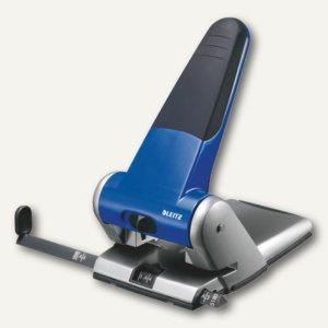 LEITZ Registraturlocher 5180 extrastark, bis 65 Blatt, blau, 5180-00-35