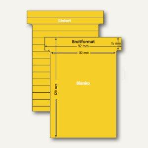 Ultradex T-Karten, liniert/blanko, Breitformat, gold, 100 Stück, 541151