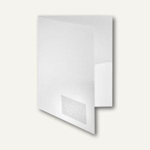 Broschürenmappe A4, Innentaschen, Abheftlasche, weiß, 20 Stück, 10008-10