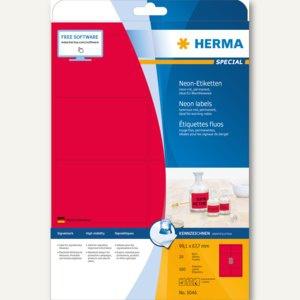 Herma Universal-Etiketten, 99.1 x 67.7 mm, Rand, neon-rot, 160 Stück, 5046