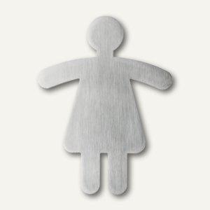 """Durable Piktogramm """" WC Damen"""", ausgestanzt, Edelstahl, 120x91mm, 4950-23 - Vorschau"""