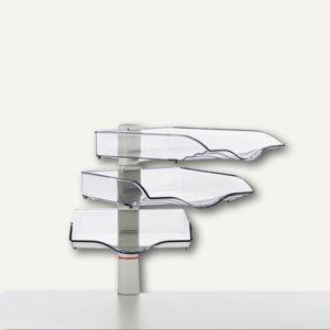 CopySwinger III, 3er-Set mit Ablageschalen B4, lichtgrau, 720+3002+000