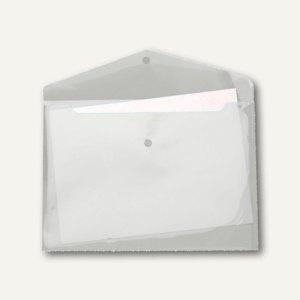 Dokumententaschen DIN A4 quer, Druckknopf, PP, transparent-klar, 100 St.