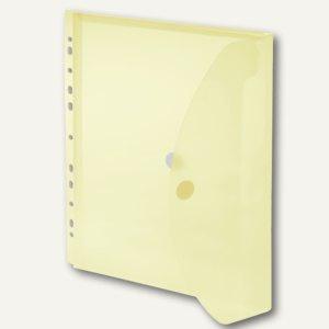 FolderSys Umschlag, A4, PP, Abheftstreifen, 20mm, transp. gelb, 50 St., 40109-64