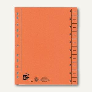 officio Trennblätter für DIN A4, 24 x 30 cm, Karton 230 g/m², orange, 100 St.