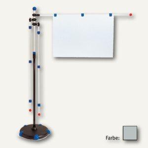 Mobilpresenter, 3 Arme DIN A0, höhenverstellbar 1.40 m bis 2 m, grau, 6256084