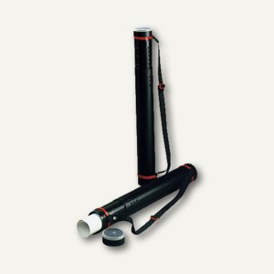Zeichenrollen-/Flipchart-Köcher, verstellbar bis 1.080 mm, Ø80 mm, PP, schwarz