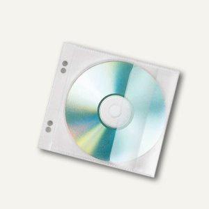 CD-Hülle zum Abheften für 1 CD, PP, transparent, 10 x 10 Stück (SB-Packs)