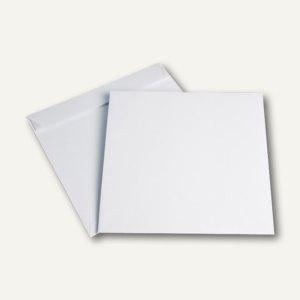 Briefumschläge quadratisch 240 x 240 mm, haftklebend, 120g/m², weiß, 250 Stück