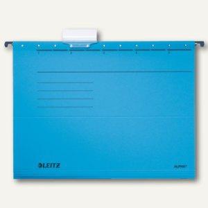 LEITZ Alpha Hängemappe für DIN A4, blau, 25er Pack, 1985-00-35