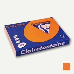 "Clairefontaine Papier "" Trophee"", DIN A3, 80 g/m², orange, 500 Blatt, 1762C"