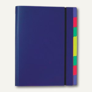 FolderSys Ordnungsmappe mit 8 Trennblättern, A4, PP, blau, 10 Stück, 70031-47