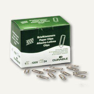 Durable Briefklammern, Metall, spitz, 26 mm, verkupfert, 10.000 Stück, 1205-24 - Vorschau