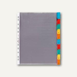 Durable Hüllenregister, 10 tlg., Universal-Lochung, transparent, 4 Stück, 6632-19