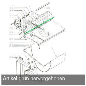 Hansa Gegenschnittschiene für Langschneider 150cm, 1157214 - Vorschau