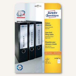 Avery Zweckform Ordner-Etiketten, schmal/kurz, weiß, 175 Etiketten, L4760-25