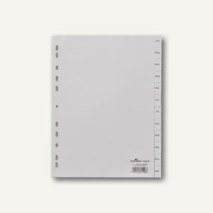Register DIN A4, geprägte Taben, JAN - DEZ, PP, 12-teilig, grau, 25 Stück