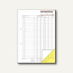 Sigel Formular Kassenabrechnung DIN A4, hoch, 2x50 Blatt, KG428