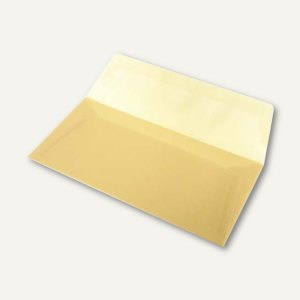 Transparente Briefumschläge DIN lang, nassklebend, gold, 100 Stück, 164002150