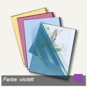 Sichthüllen, DIN A4, 120my, PP, genarbt, Griffausstanzung, violett, 100 Stück