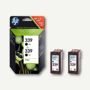 HP Tintenpatronen Nr. 339, Doppelpack, schwarz, 2 x 21 ml, C9504EE
