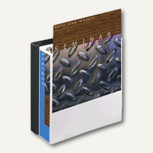 Präsentations-Ringbuch DIN A4, 4-Ringe, 50 mm, mit 2 Außentaschen, weiß, 49705