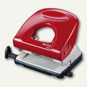 LEITZ Locher NeXXt 5008, bis 30 Blatt, rot, 5008-00-25