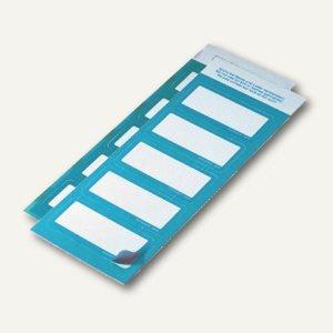 Textiletiketten-Namensschilder, 60 x 30 mm, selbstklebend, blau, 50 Stück