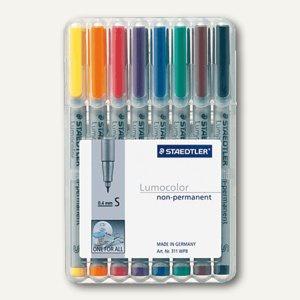 Lumocolor Universalstift 311, non-permanent, S, 0.4 mm, 8er Etui, 311 WP8