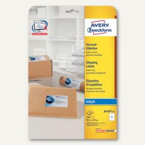 Zweckform Versand-Etiketten für Pakete, Inkjet, 99.1 x 139 mm, 100 St., J8169-25
