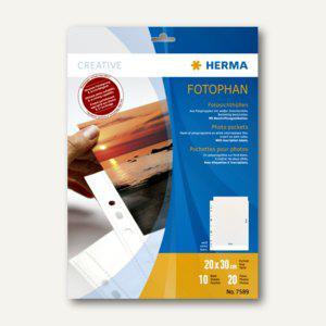 Herma Fotophan-Sichthüllen, 20 x 30 cm, weiß, 4 x 10 Hüllen, 7589 - Vorschau