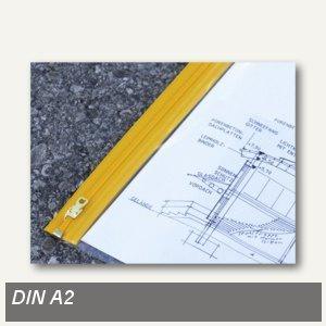 Planschutztaschen DIN A2, 440 x 620 mm, Gleitverschluss, 10 Stück, 9500710