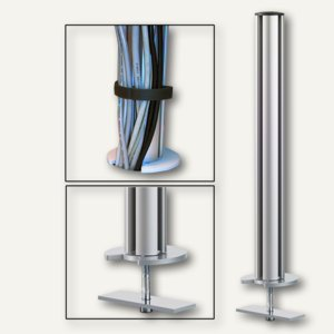 TSS-Säule mit Kabellochbefestigung (Tisch), Aluminium, Länge: 445 mm