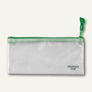 Reißverschlusstasche, 200 x 100 mm, PVC gewebeverstärkt, 10 Stück, 2706000