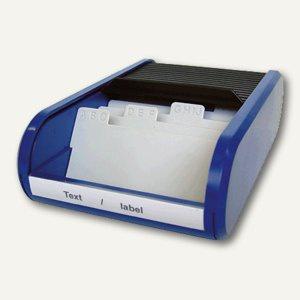 Helit Visitenkartenbox, alphabetische Unterteilung, schwarz/blau, H62180.93