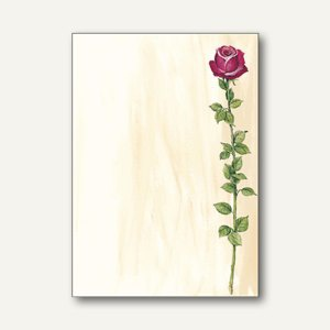 "Sigel Motiv-Papier "" Rose Bloom"", DIN A4, 90 g/m², 25 Blatt, DP695"