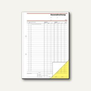 Sigel Formular Kassenabrechnung A4, durchschreibend, 2x40 Blatt, SD006