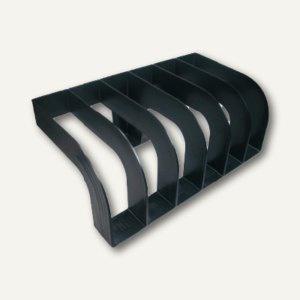 officio Ordner Ständer für 6 Aktenordner, Kunststoff, schwarz, 130675
