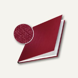 Buchbindemappe impressBIND, 71-105 Blatt, Leinen, Hardcover, bordeaux, 10 Stück