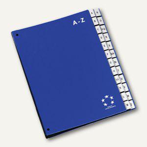 officio Pultordner DIN A4, Kunststoff, Register A-Z, blau - Vorschau