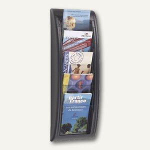 """Wandhalter """" Quick Fit"""", 5 Fächer DIN A5, 65, 5 x 22, 7 x 9, 5 cm, schwarz, 4063.01"""