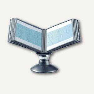 SHERPA® MOTION 10, Sichttafelsystem, Tisch-Drehständer, m. 10 Tafeln, 5587-37