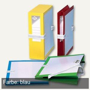 Archivmappe mit Metallschnalle, dehnbar bis 100mm, Karton/PVC, blau, 25 Stück
