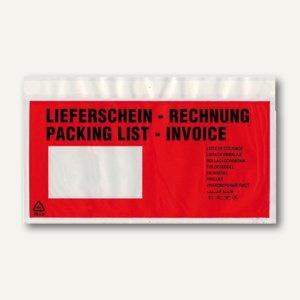 Lieferscheintaschen, DIN lang, 240 x 125 mm, Lieferschein/Rechnung, 1.000 St.