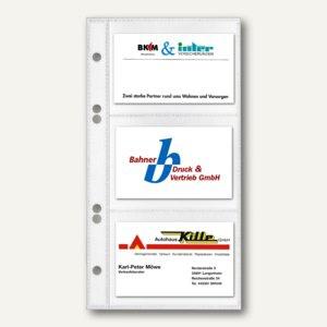 Veloflex Visitenkartenhüllen, 11 x 21 cm, PP, 6 Karten/Hülle, 50 Stück, 5352000