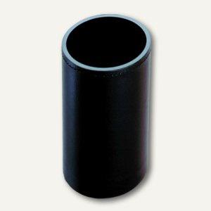 Läufer Monza Köcher aus Lederfaserstoff, 10 cm, 7 cm Ø, schwarz, 36336