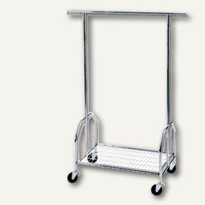 officio Mobile fahrbare Garderobe, sehr stabil, 90x54x130-150-170cm, 2830 - Vorschau