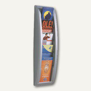 """Wandhalter """" Quick Fit"""", 5 Fächer DIN A4/lang, 65 x 18 x 9, 5 cm, aluminium - Vorschau"""
