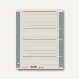 officio Trennblätter DIN A4, 10 Taben, 230 g/m², grau, 100 Stück