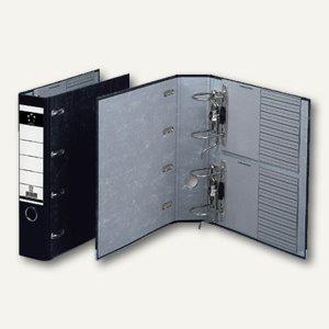 officio Doppelordner DIN A4, Rückenbreite 80 mm, mit 2 Mechaniken, schwarz